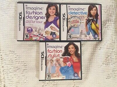 Nintendo Ds Game Lot Of 3 Imagine Detective Fashion Stylist Fashion Designer Ebay