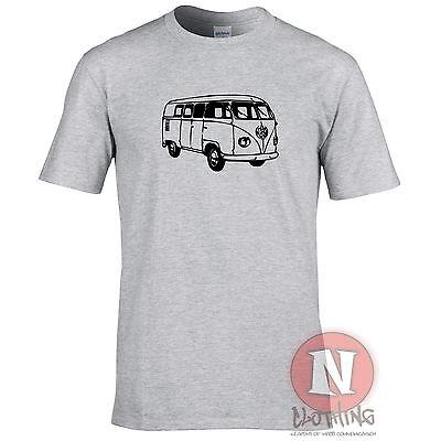 VW CAMPER VAN classic car auto retro cool 60's hippie festival t-shirt