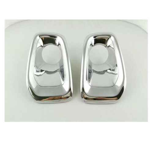 2X Chrome Before Fog Light Lamp Cover Decorate Trim For Jeep Renegade 2015-2018
