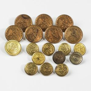 Details about VINTAGE SHABECK LOT OF 18 USN NAVY WWII MILITARY BUTTONS