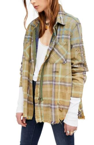 NWT Free People Deconstructed Shirt Jacket Retail $168