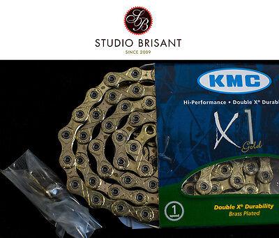 KMC X1 Singlespeed Kette - Rohloff - 1 Fach - 1/2 x 3/32 silber - 110 Glieder