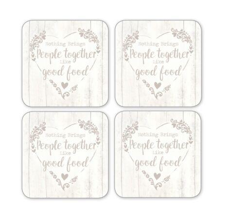 Cooksmart food for thought Set de 4 Coasters
