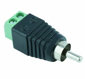 5-x-Male-RCA-Phono-Plug-bornes-a-vis