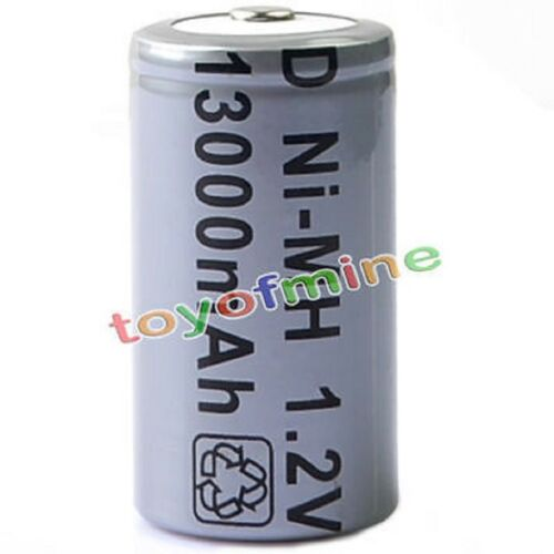 1//2 pcs D Size D-Type 13000mAh 1.2V Ni-MH Rechargeable Battery Cell Grey S250
