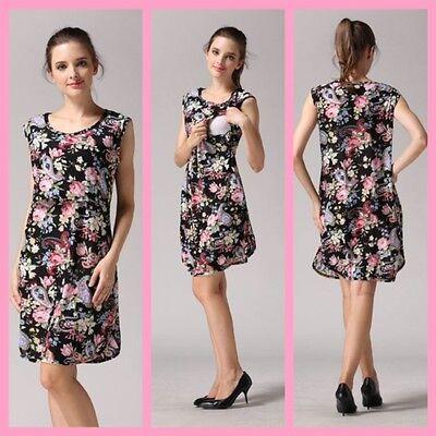 Gewidmet Sale!! Bnwt Black Maternity Breastfeeding Nursing Dress Size M L Xl 8 10 12 14 Kann Wiederholt Umgeformt Werden.