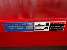 Brand New Never Used Kawahara Lift Table Ktl 1221 09 25