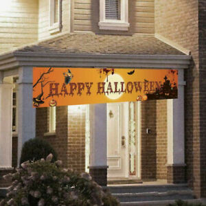 Halloween-Hanging-Banner-Pull-Flag-Decorations-Celebrate-Foldable-Outdoor-Decor