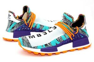 829886c49 Adidas Pharrell Williams Solar HU NMD White Black Orange Size 12.5 ...