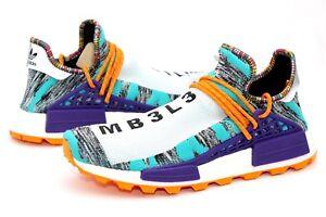 hot sale online 78b59 67ef5 Details about Adidas Pharrell Williams Solar HU NMD White Black Orange Size  12.5 US BB9528