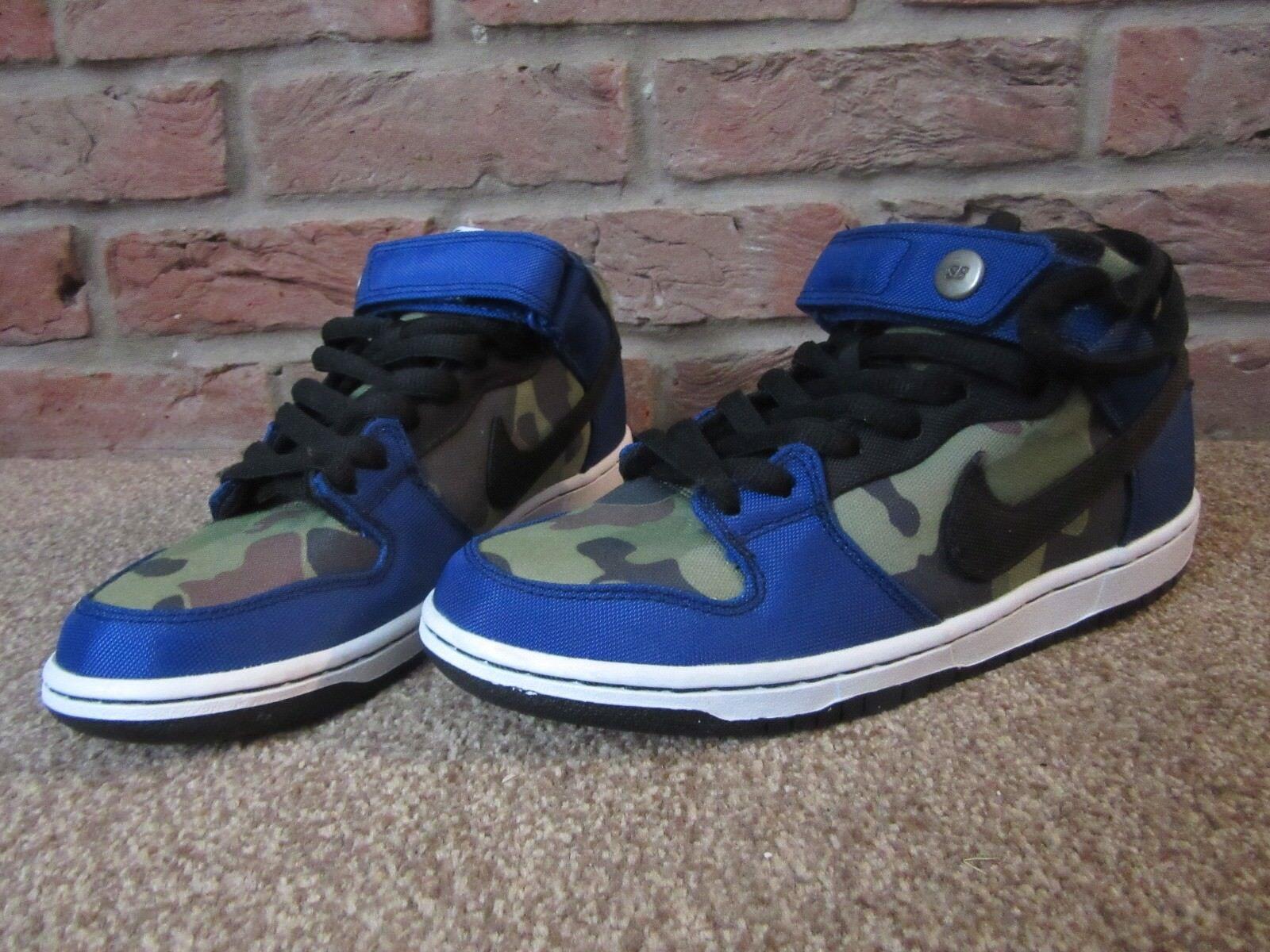 NEW6 homme NIKE Trainers noir Bleu Lace vert Camo Skate chaussures Lace Bleu Up Canvas 6d0931