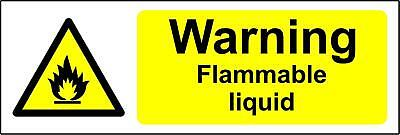 Warning Clinical waste safety sign Self adhesive sticker 150mm x 50mm
