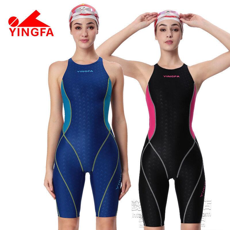 YINGFA Women  Girls  Competition Racing Sharkskin Swimwear Swimsuit 953
