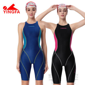 27d30cd910 Image is loading YINGFA-Women-Girls-Competition-Racing-Sharkskin-Swimwear- Swimsuit-