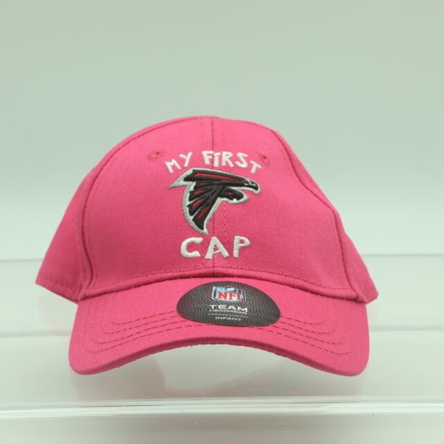 Atlanta Falcons Official NFL Apparel Baby Infant Girls (1-2) OSFM Pink Hat 69333af72a28