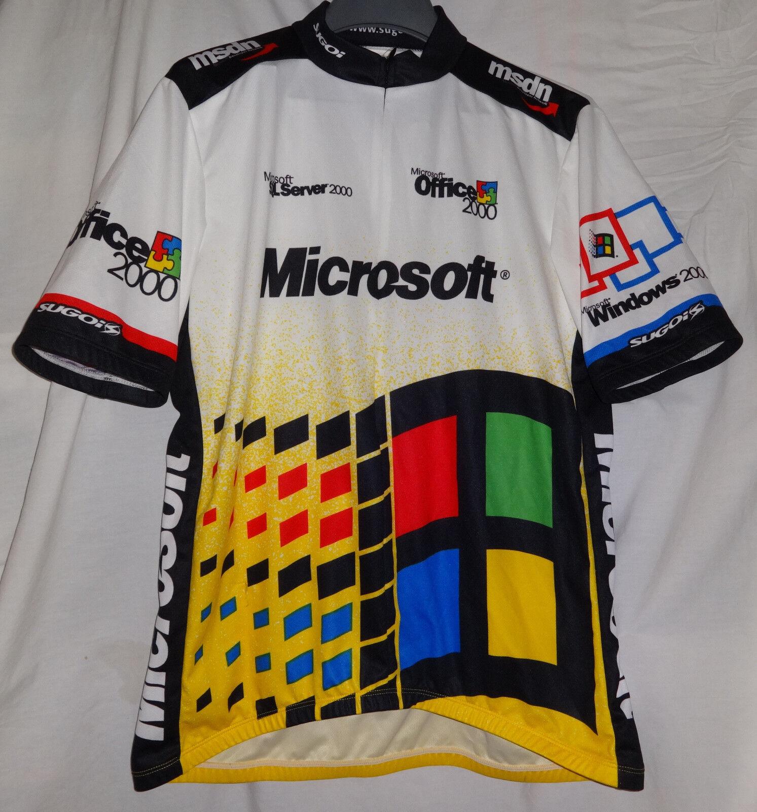Microsoft Windows Office Server Visual Studio PROMO Cycling Bike  Race Jersey L  limited edition