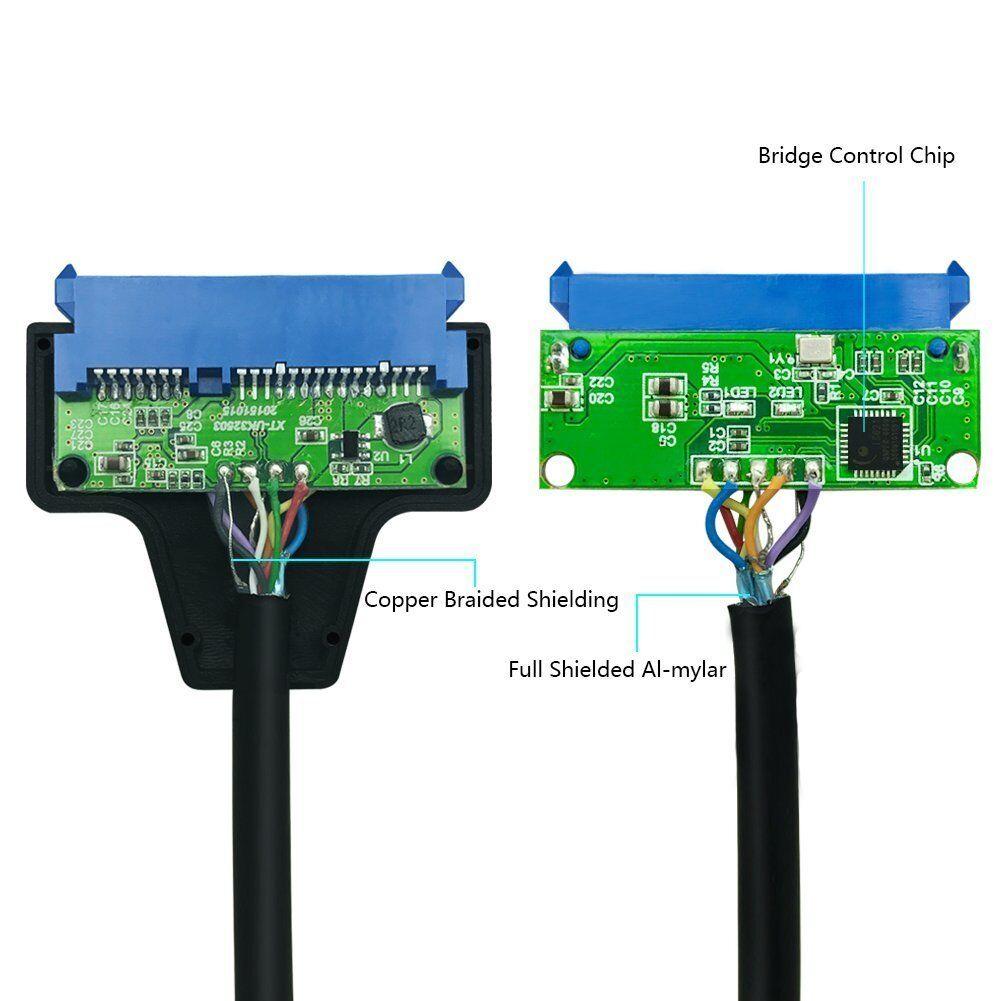"USB 3.0 to 2.5"" SATA III Hard Drive Adapter Cable/UASP -SATA to USB3.0 Converter 6"