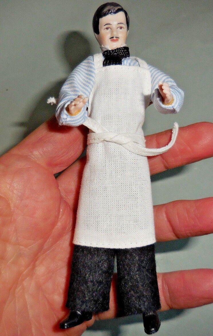 Casa de muñecas en miniatura  elegante tienda Keeper  Cabeza De Porcelana