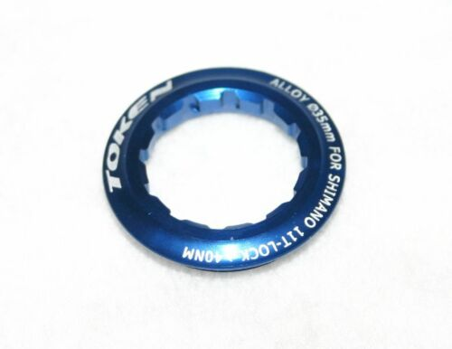blau für 11 Zahn Kassettenabschlussring Verschlussring Kassette Alu Token