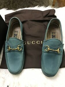 bebba33dc7e Image is loading 1953-EDITION-GUCCI-MENS-SHOES-HORSEBIT-SUEDE-LOAFERS-