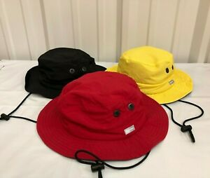 b98d517f2 Details about SUPREME Contrast Boonie Black Yellow Red S/M box logo camp  cap F/W 18