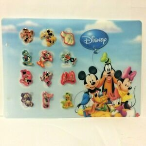 Set-of-12-Pin-039-S-Disney-with-Board-Mickey-and-Its-Friends