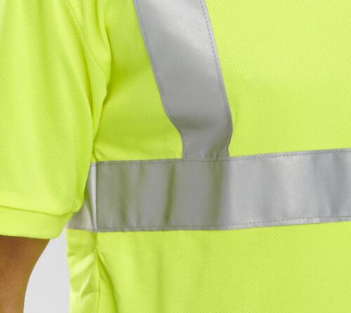 B-Seen bscntsen hi vis visibilité sécurité Workwear T-shirt à encolure ras-du-cou