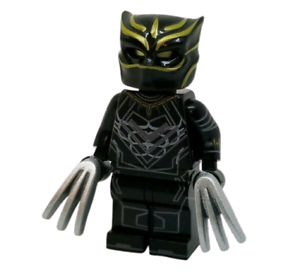 **NEW** Custom Printed WHITE PANTHER Marvel Universe Black Block Minifigure
