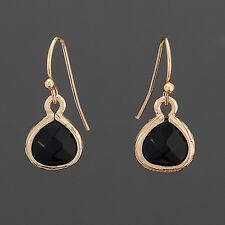 Gold Simple Black Dangle Bohemian Style Unique Earrings
