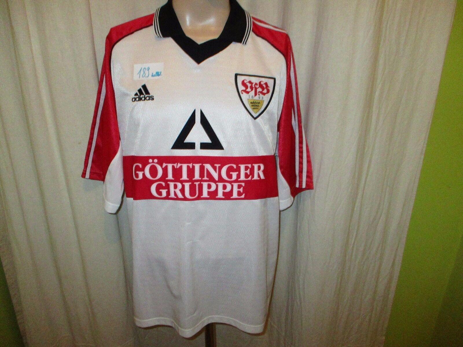 VfB Stuttgart Adidas Trikot 1998 99    Göttinger Gruppe  + Nr.8 Zeyer Gr.XL TOP    Realistisch  0239fb