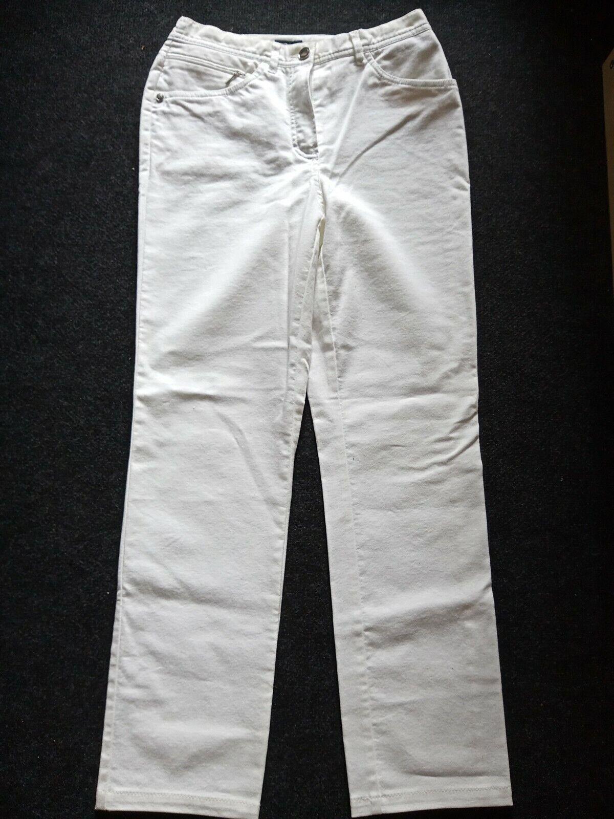 ❤ Damen Jeans Hose Walbusch weiss Größe 36 Dehnbund