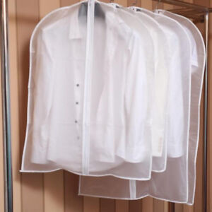 Clear-Suit-Dress-Bag-Travel-Home-Clothes-Coat-Cover-Zip-Dust-Protector