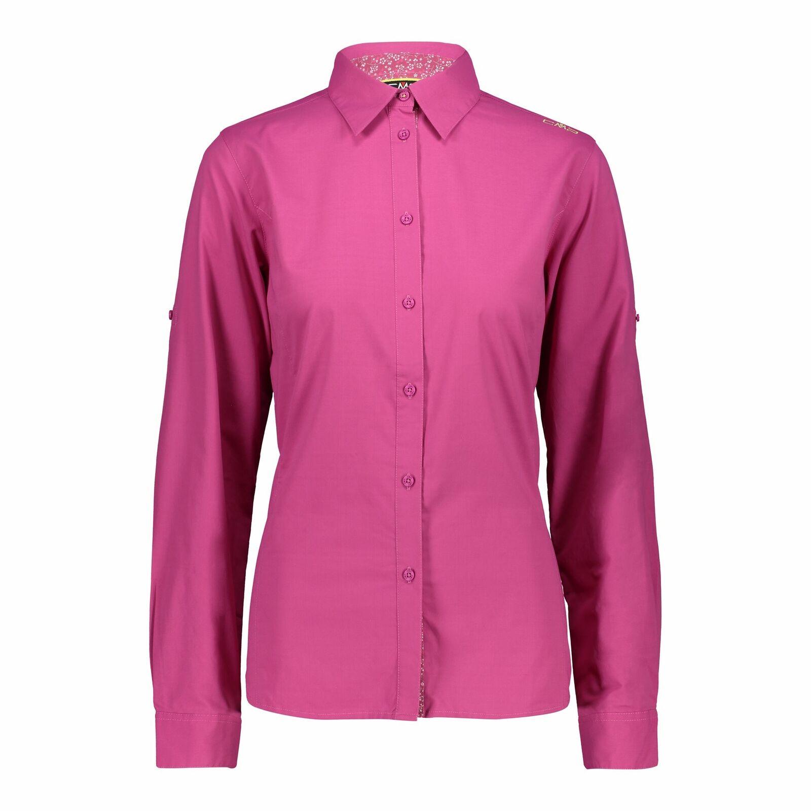CMP Camicetta Camicia Donna Shirt Fucsia Traspirante Elastico Anti Batterico