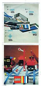 LEGO   151-1: Curved Track    NOTICE / INSTRUCTIONS BOOKLET / BAUANLEITUNG