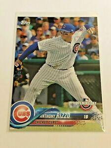 2018-Topps-Opening-Day-Baseball-Base-Card-6-Anthony-Rizzo-Chicago-Cubs