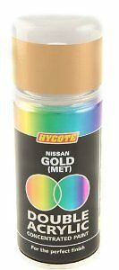 x6 - Double Acrylic Hycote Nissan Paint  Gold 150ml XDNS701