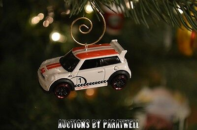 Multiple Hot Wheels Matchbox Mini Cooper Custom Diecast Christmas Ornaments