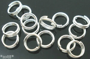 10-Piece-Spiral-Ring-Binding-Rings-6-MM-Split-Rings-Key-Rings-Hellsilbern