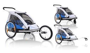 incl-Jogger-u-Buggyrad-XLC-Duo-BS-C02-Fahrradanhaenger-Kinderanhaenger