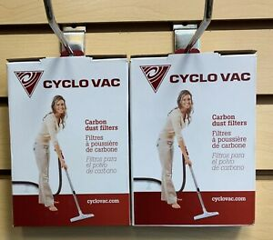 Cyclo Vac Genuine TDFILHEC2 Carbon Dust Filters: 2 Boxes - 4 Filters Total