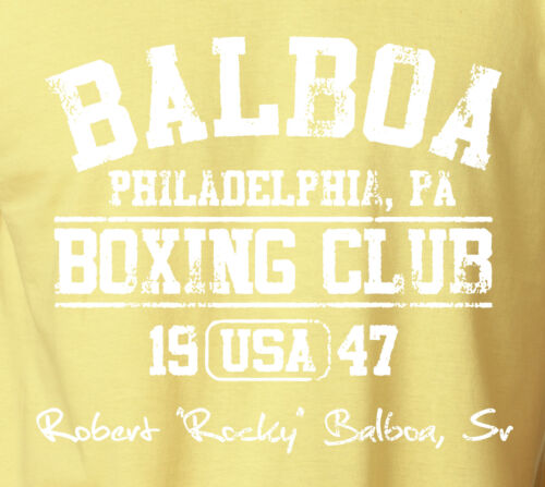 BALBOA BOXING CLUB T-Shirt Rocky Sylvester Stallone Philadelphia Fight Gym Tee