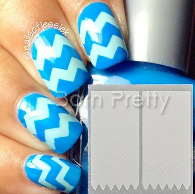 1 Sheet Creative French Manicure Wave Edge Tip Guides Nail Art Toes