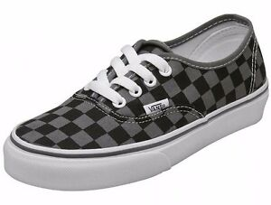 1b423cac24aa5a Image is loading Vans-AUTHENTIC-Checkerboard-Pewter-Black-Gray-White-VN-
