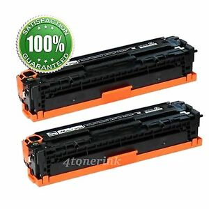 2 PK CF210A 131A Black Toner Cartridges For HP Color Laserjet Pro 200 MFP M276nw