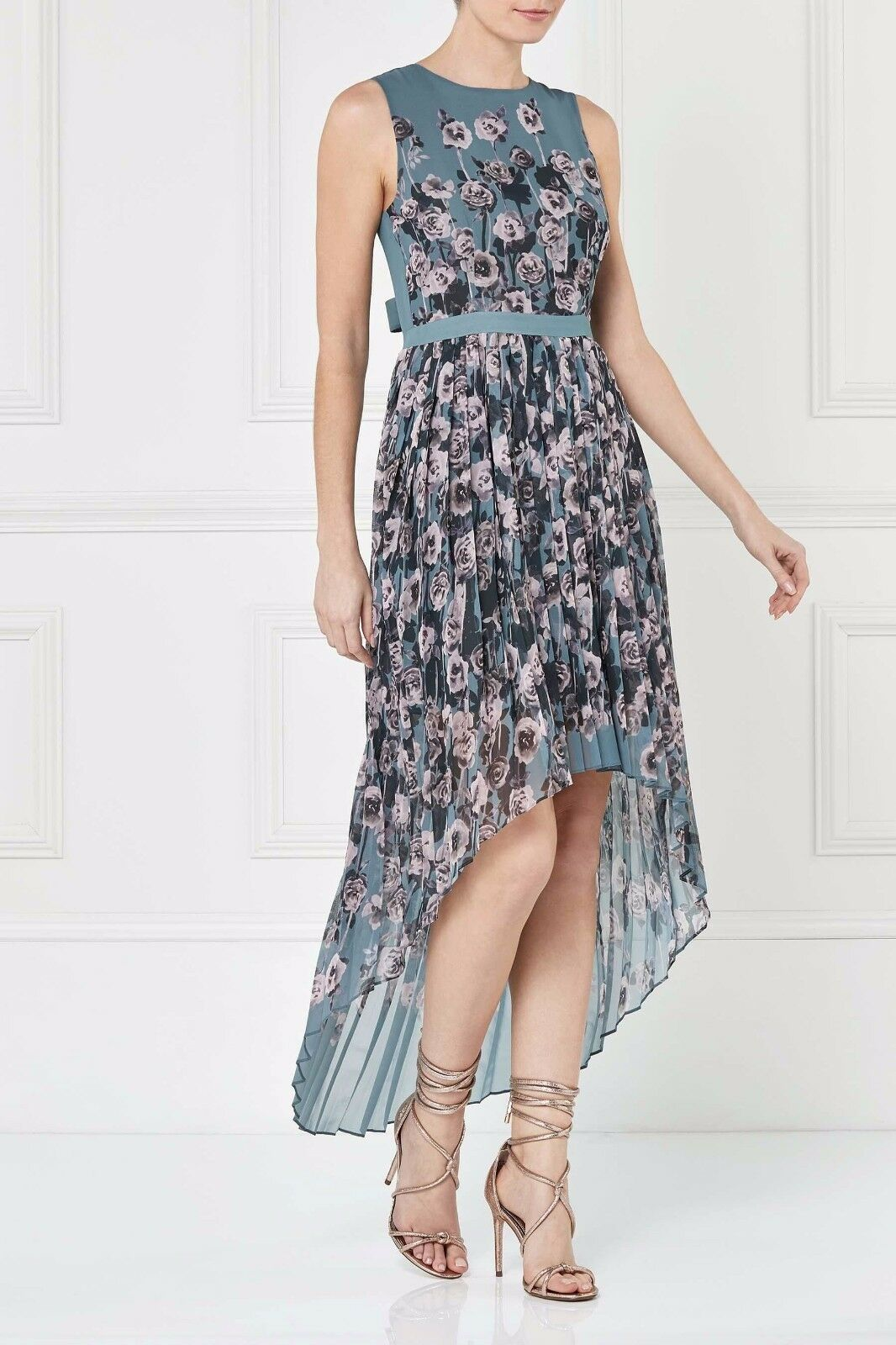 Next Floral Dipped Hem Maxi Dress 10