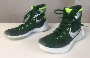 buy popular 783f7 e5188 Image is loading Nike-Hyperdunk-2015-George-Dark-Green-Lime-Green-