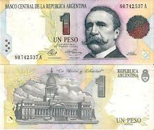 Argentina $1 Peso Convertibilidad Bank Note Mint Condition Plastic Sleeve