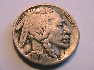1927-S-Buffalo-Nickel-Nice-VG-Very-Good-Toned-Original-Indian-Head-5-Cent-Coin