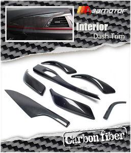 Carbon Fiber Interior Trim Control Dashboard Panels 7 Pc For Bmw F20