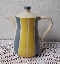 Vintage Kanne - Rockabilly - gelb-graue Streifen - 160/2 - feuerfest - 1 Liter
